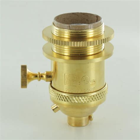 threaded uno downbridge l shade l parts unfinished brass uno threaded 3 way socket
