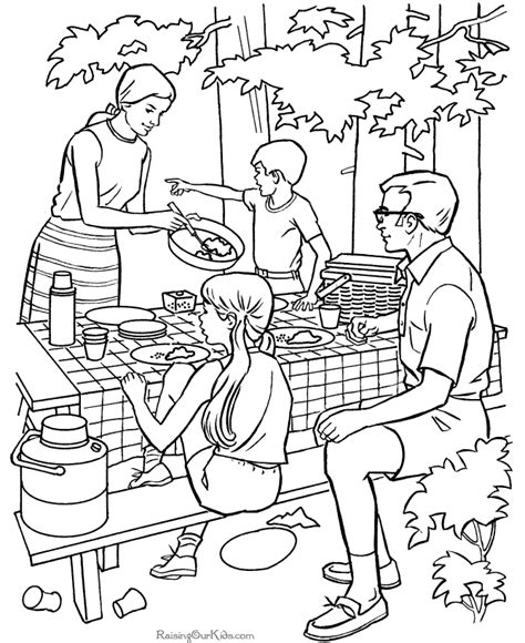 family cing coloring page free coloring pages of c fun
