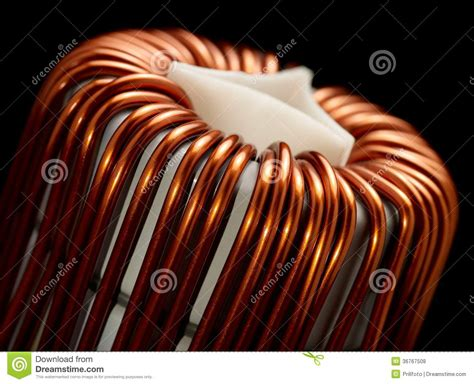 inductor in detail inductor detail royalty free stock photos image 36767508