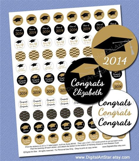printable graduation stickers personalized graduation candy stickers high school