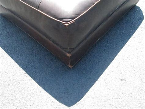 Oversized Ottomans For Sale Oversized Leather Tufted Bench Ottoman For Sale At 1stdibs