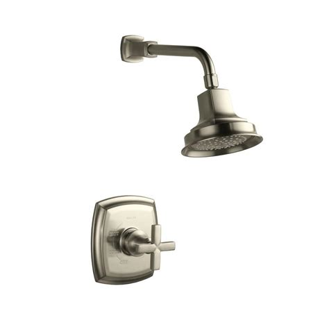 Margaux Faucet by Kohler Margaux Shower Faucet Trim With Cross Handle In Vibrant Brushed Nickel Valve Not