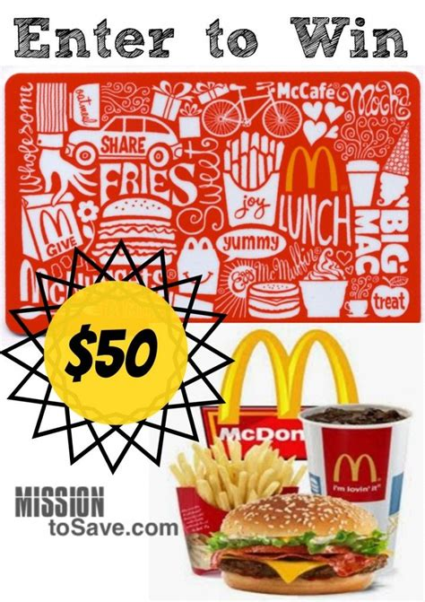 Gift Cards Mcdonalds - best 25 mcdonalds gift card ideas on pinterest