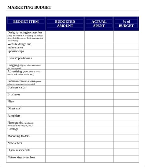 Marketing Budget Template 3 Free Excel Word Documents Download Free Premium Templates Marketing Templates For Word