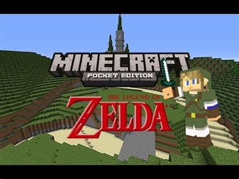legend of zelda adventure map minecraft pe the legend of zelda in minecraft pocket edition youtube