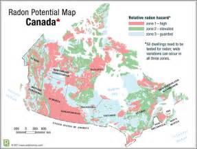 canada radon map radon controls inc calgary alberta canada