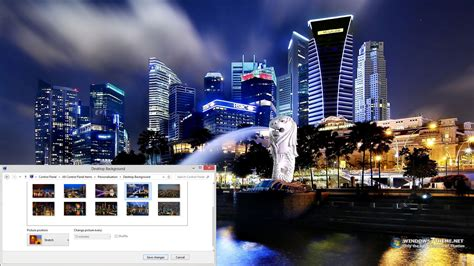 Pc Themes Singapore Contact | singapore night skyline windows 7 theme download