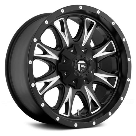 with wheels fuel 174 d513 throttle 1pc wheels black with milled accents