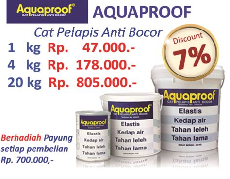 Cat Pelapis Genteng Aquaproof Cat Pelapis Anti Bocor Acc Bangunan