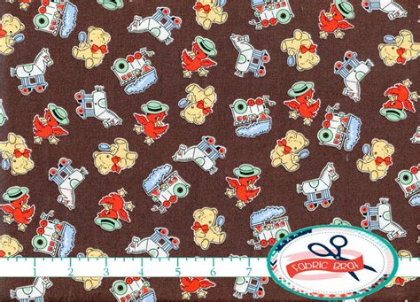 vintage upholstery fabric by the yard retro toys fabric by the yard fat quarter 1930 by fabricbrat