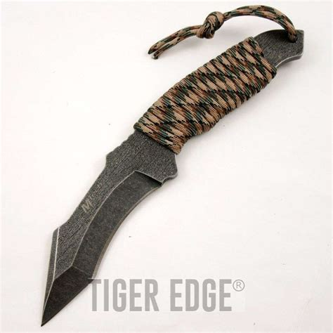 curved knives types mtech cord wrapped fixed blade tang curved tanto