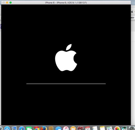 background xcode xcode 7 1 simulator showing black screen stack overflow
