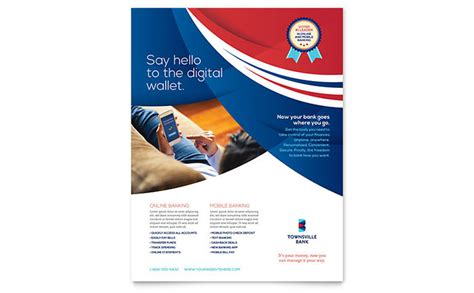 Bank Flyer Template Word Publisher Microsoft Poster Templates