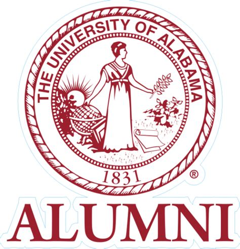 Of Alabama Alumni Sticker laser magic alabama of alabama seal alumni