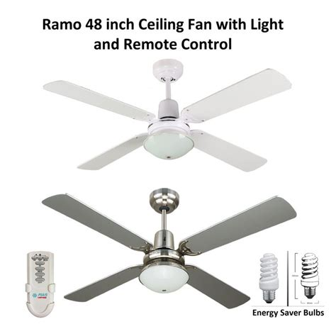 48 ceiling fan with light ramo 48 inch ceiling fan with light and remote control
