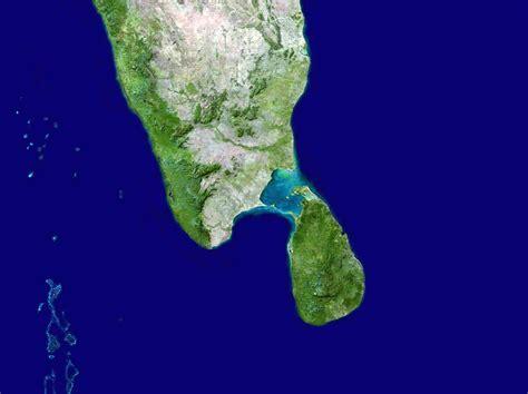sri lanka satellite map large satellite map of south india and sri lanka sri