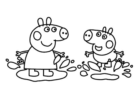 imagenes para dibujar increibles dibujos para colorear e imprimir de peppa pig archivos