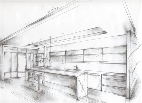 kitchen design sketch house blueprint with alley kitchen google search home