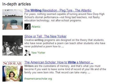 In Depth Search Starts Highlighting In Depth Articles In Search Results Creativo Media