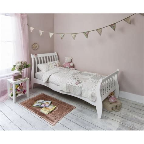 White Single Sleigh Bed Single Sleigh Bed