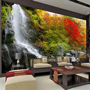 landscape wall mural wholesale 3d wall mural for background wall wallpaper