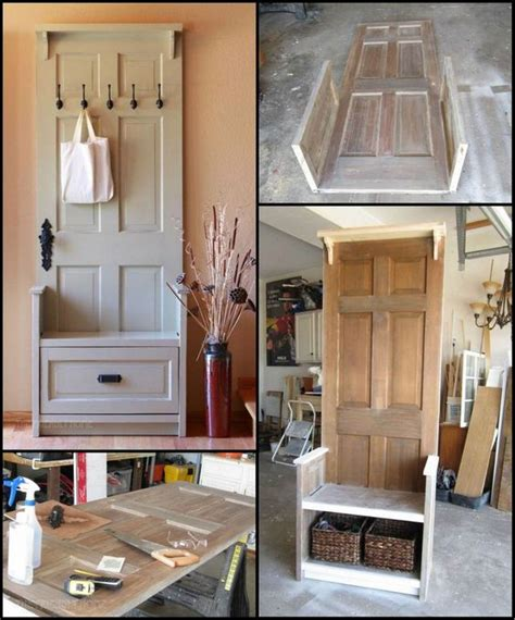 how to build an entryway bench how to build an entry bench from an old door http theownerbuildernetwork co jnnr