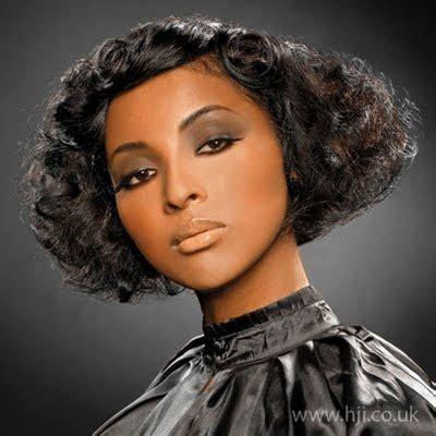 American Vintage Wedding Hairstyles by 2009 Wide Curls Black Wedding Hairstyles