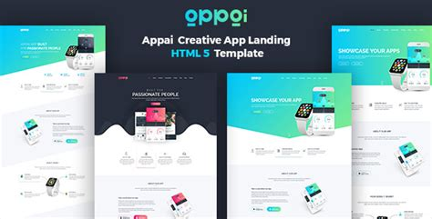 blog theme landing page appai v1 1 2 app landing page blogger template free