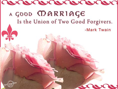 Wedding Union Quotes by A Marriage Is The Union Of Two Forgivers