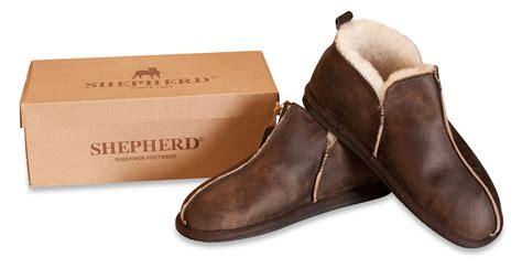 bottom slipper boots shepherd mens genuine sheepskin slippers boots shoes