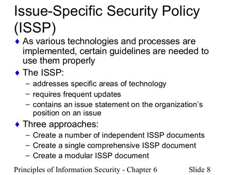 issp template chapter 5