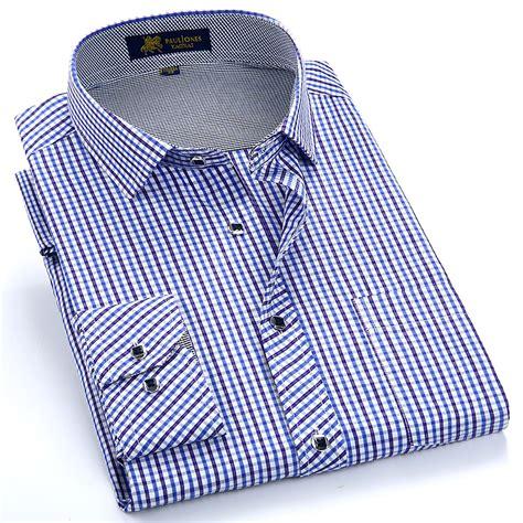 pattern business shirt summer 2017 men s long sleeve small plaid pattern dress