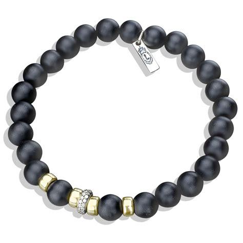 gold black onyx bead bracelet