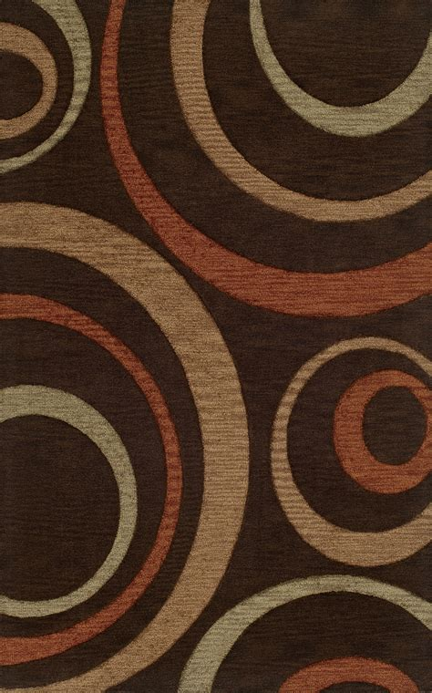 brown rug with circles dalyn circles brown loops curls wool hooked transitional tr11 area rug