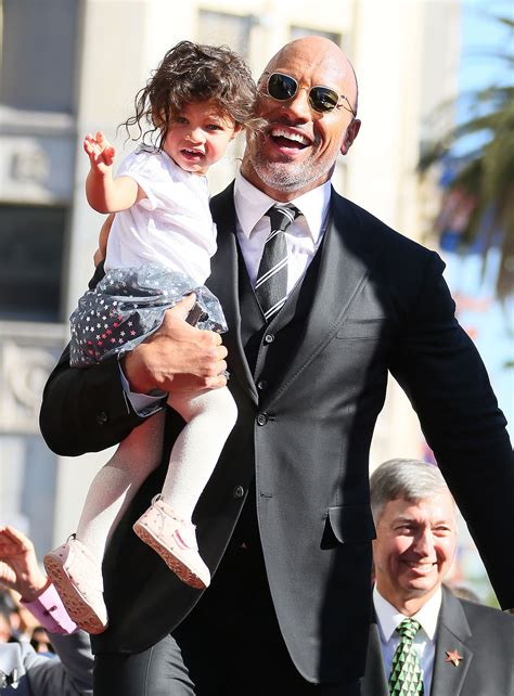 dwayne johnson the rock daughter dwayne johnson s daughter adorably outshines him at star