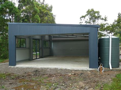 Garage With Shed Roof by Gallery The Shed Company Gold Coast Skillion Roof