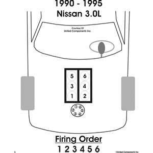 solved firing order 1991 nissan pathfinder xe v 6 fixya