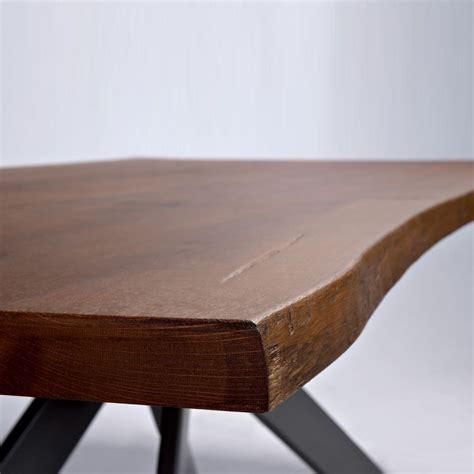 base tavolo legno tavolo piano legno massello base acciaio samoa arredas 236