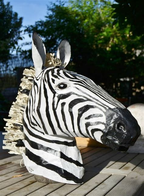 How To Make A Paper Zebra - paper mache zebra sinterklaas