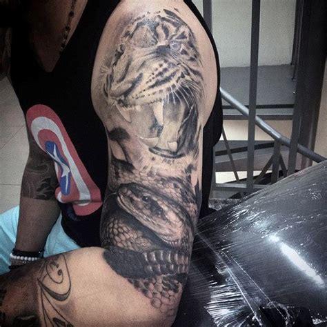 tattoo animal half sleeve 100 animal tattoos for men cool living creature design ideas