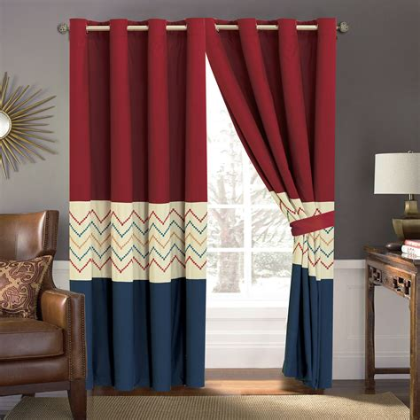 red zig zag curtains 4 p tommi chevron zigzag herringbone embroidery curtain