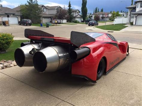 "Ryan McQueen Created A Jet Car ""Ferrari Enzo"" With TWO JET"