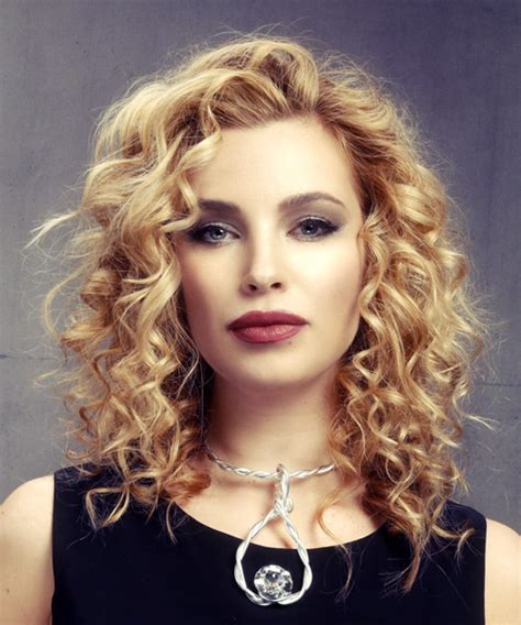 Medium Curled Hairstyles by Medium Curly Formal Hairstyle Medium Golden