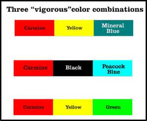 three color palettes sufficient to define a brand