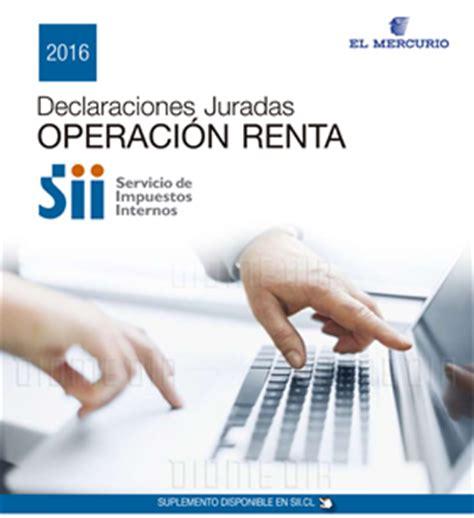 Declaraciones Juradas Renta 2016 | en circulaci 243 n suplemento de declaraciones juradas para