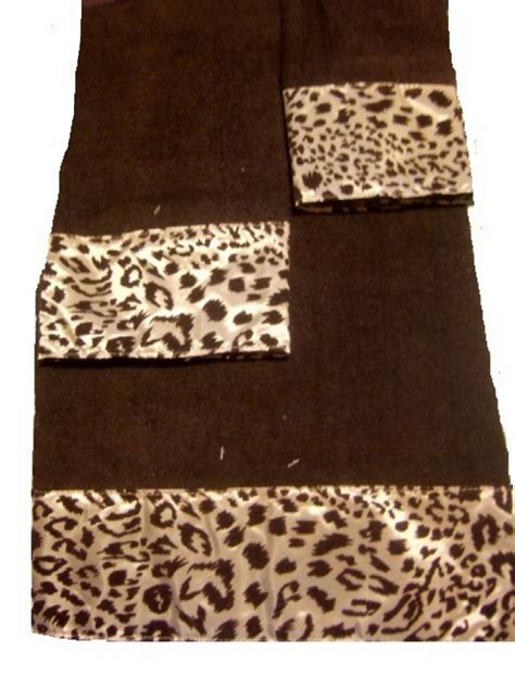 leopard print bathroom sets leopard print bath towel set