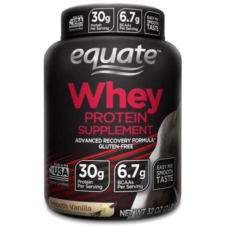 protein walmart equate whey protein powder smooth vanilla 30g protein 2
