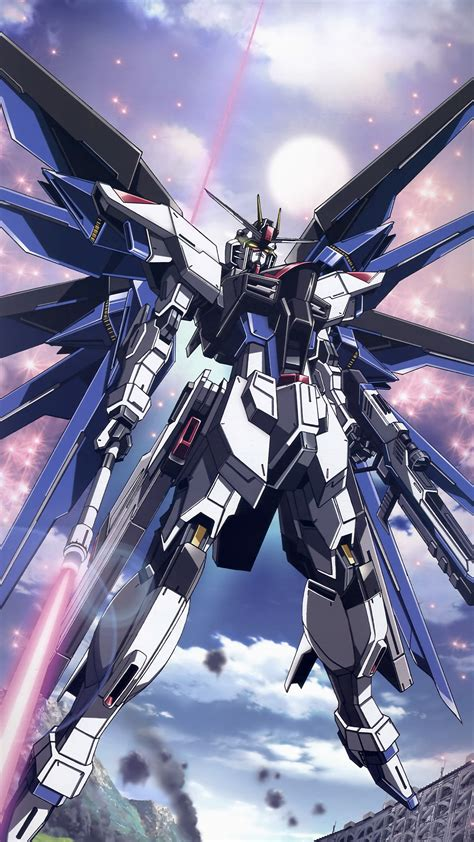 gundam wallpaper for mobile phone ar85 freedom gundam art illustration anime
