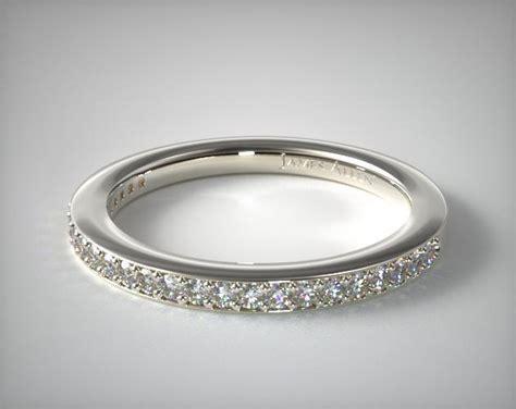 bezel set wedding band platinum bezel set matching wedding ring platinum james allen