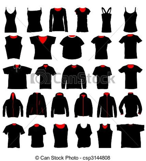 Different Designs Of Shirts Vector Of Shirt Templates Many Shirts In Different